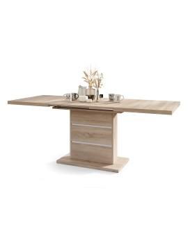 BRAVO  s polici, bílý - rozkládací, zvedací konferenční stůl, stolek s poličkou