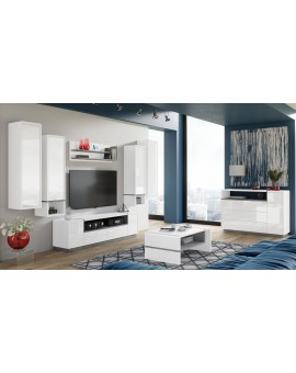 copy of MILA 1D skříňka bílá / burgund, obývací pokoj